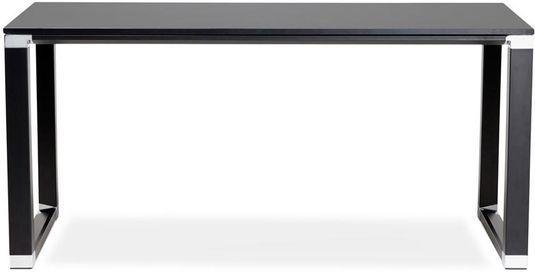 eckschreibtisch schwarz holz, schreibtisch warner - schwarz - holz - 80x160x74 - kokoon design, Design ideen